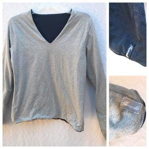 Faconnable Tops - Faconnable Reversible Long Sleeve Shirt